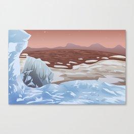 Mars Polar Caps Canvas Print