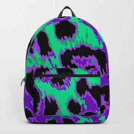 Aqua-Violet Leopard Spots Backpack