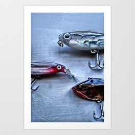 Time to Fish, Freshwater Fishing Art Print