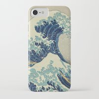 xbox iPhone & iPod Cases featuring The Great Wave off Kanagawa by Palazzo Art Gallery