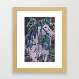 Purple Carousel Framed Art Print