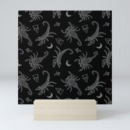B&W Scorpio Moon Mini Art Print