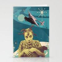 chicken Stationery Cards featuring Chicken by Julia Lillard Art