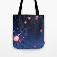 hydra Tote Bags featuring Celestial Hydra by Ann Garrett
