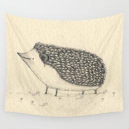Monochrome Hedgehog Wall Tapestry