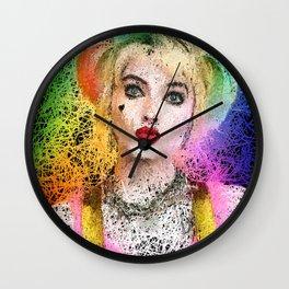 queen in color Wall Clock