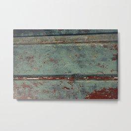 Boat Wood Paint Texture Cornwall Metal Print