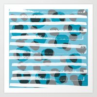 Spotted & Striped Art Print