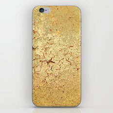 Cracked Wall Texture Yellow iPhone & iPod Skin