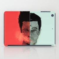 tyler durden iPad Cases featuring Tyler Durden V. the Narrator by qualitypunk