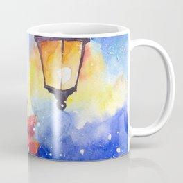 Watercolor snowman in Christmas winter night Coffee Mug