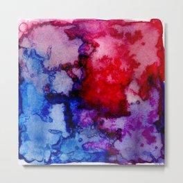 Abstract Watercolor Wash Metal Print