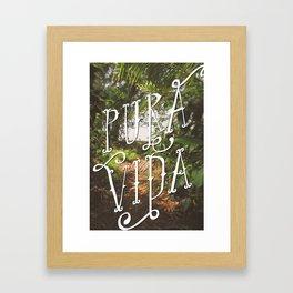 Pura Vida Costa Rica Jungle Life Caribbean Type Framed Art Print