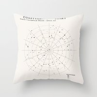 constellations Throw Pillows featuring Constellations by Sarah Rodriguez