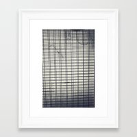 grid Framed Art Prints featuring Grid by farsidian