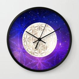 Flower of Life Moon 3 Wall Clock