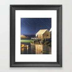 Raining Stars in the Cove Framed Art Print