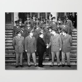 African American Navigation Cadets with Mayor La Guardia Canvas Print