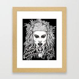 Die Antwood Inspired Illustration Framed Art Print