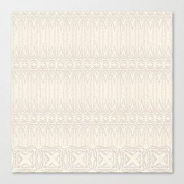 Cream and Coffee Chenille Digital Pattern Canvas Print