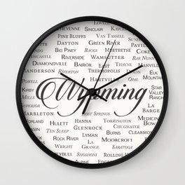 Wyoming Wall Clock