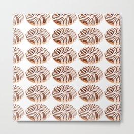 Chocolate Cream Donuts with Extra Vanilla Metal Print