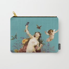 Selfie (blue) Carry-All Pouch