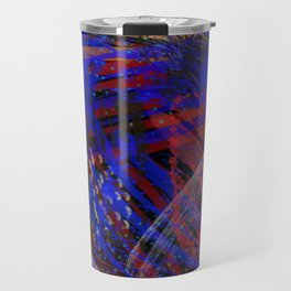 Abstract blue background Travel Mug