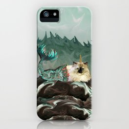 Behold the Mythical Merkitticorn - Mermaid Kitty Cat Unicorn iPhone Case