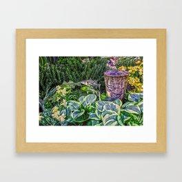 Greens and Yellows Garden Framed Art Print