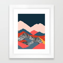 Graphic Mountains X Framed Art Print