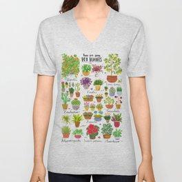 Here are some Pot Plants! Unisex V-Neck