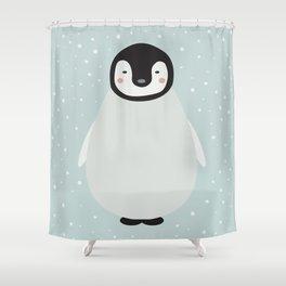 Atticus the penguin Shower Curtain