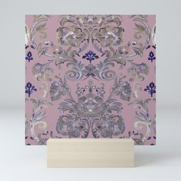 Painted Tibetan Brocade Mauve Mini Art Print