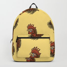 Cock-a-Doodle Pattern Backpack