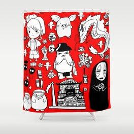 Spirit Away Characters Shower Curtain
