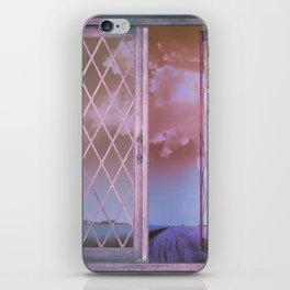 Lavender Fields in Window Shabby Chic original art iPhone Skin