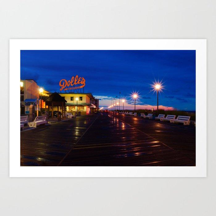 Early Morning at Dolles Coastal Landscape Photograph - Boardwalk Artwork Art Print