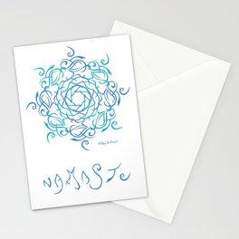 Namaste Mandala - Blue Blue Stationery Cards
