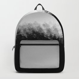 Pine Trees High Res Black and White Landscape Photography Backpack