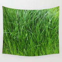 grass Wall Tapestries featuring grass by Кaterina Кalinich