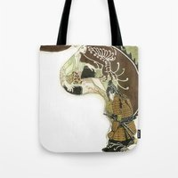 daenerys Tote Bags featuring The Serpent Mother by Luis Uzcategui
