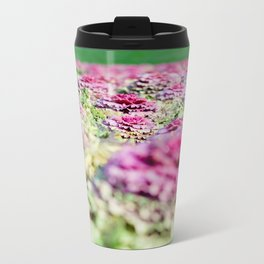 Purple Cabbage Metal Travel Mug