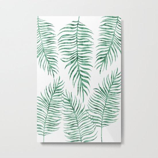 Fern Pattern Green Metal Print