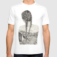 All That Is Left Is The Trace Of A Memory White Mens Fitted Tee MEDIUM