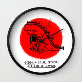 Godzilla Fun Fact Wall Clock