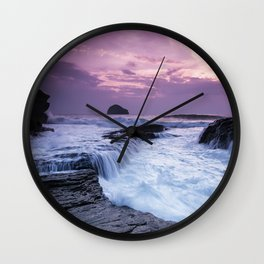 Sunset in Cornwall Wall Clock