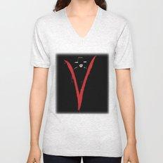 V for Vendetta (e6) Unisex V-Neck