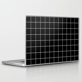 Grid Simple Line Black Minimalistic Laptop & iPad Skin