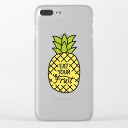 Eat Your Fruit Clear iPhone Case